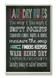 Laundry Room Artwork The Stupell Home Decor Collection Laundry Rules Typography Chalkboard Bathroom Wall Plaque