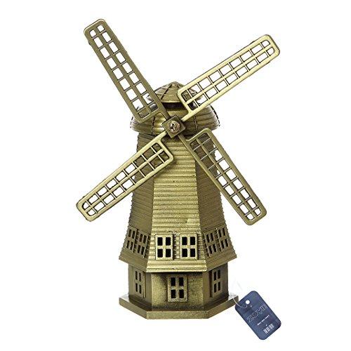 ZOVIE Metal Netherlandish Windmills Statue Home Decoration Make Pure Copper (Netherlandish Windmills)