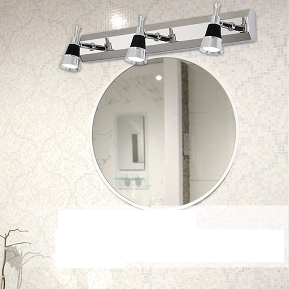 XCY Jefes Luces de Lectura Luces de la Noche Espejo de Baño Luz Maquillaje Iluminación Del Baño Lámpara de Pared de Luz Vanidad Llevó Tres Modernos de Acero Inoxidable Espejo de Baño Lámpara de Pared Calentar Light-45 * 2,5 * 6cm