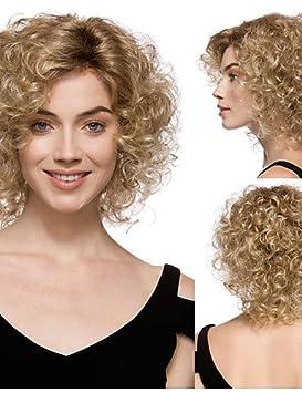 XH@G de manera rubio mezcla cortas pelucas sintéticas rizadas sin tapa de alta calidad