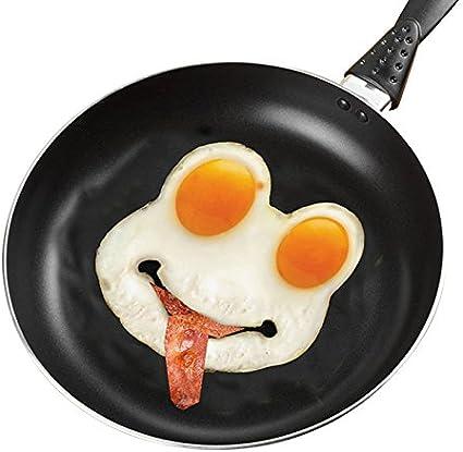 Hongshan Moule /à /œufs au plat en silicone en forme de t/ête de mort Moule /à /œuf au plat Moule /à /œufs Art Moule /à petit d/éjeuner Cadre pratique Pratique Funny 4 pi/èces.