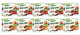 Sprout Organic Baby Food, Crispy Chews Toddler Snacks Variety Pack, Red Berry & Beet and Orchard Fruit and Carrot (5 boxes of each flavor), 10 Count