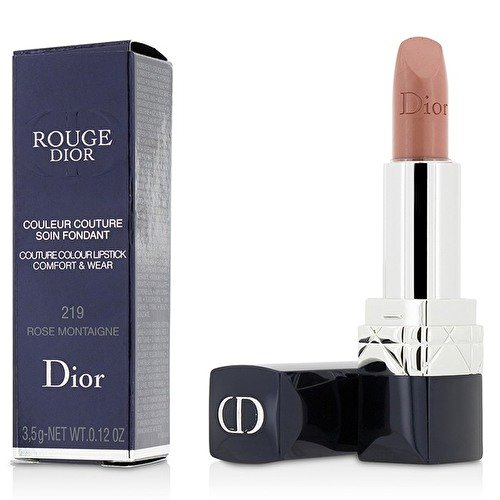 Rose Couture Lipstick (Christian Dior Rouge Dior Couture Colour Comfort and Wear Lipstick, 219 Rose Montaigne, 0.12 Ounce)