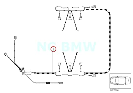 image unavailable  image not available for  color: genuine bmw e53 suv ignition  module wiring harness oem 12517529443