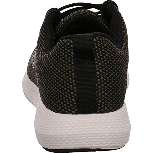 Skechers Gym Shoes Sneakers KULOW Model, for Men Black and Green, in Breathable mesh Fabric and Excellent Cushioning Memory Foam Size 44