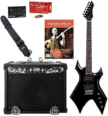 Rocktile Rocktile Pack guitarra eléctrica Warhead/Ripper: Amazon.es: Instrumentos musicales