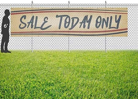 16x4 CGSignLab Sale Today Only Nostalgia Stripes Wind-Resistant Outdoor Mesh Vinyl Banner
