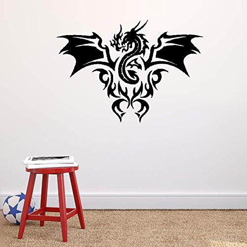 all Decal Funny Wallpaper Removable Vinyl Dragon Fire Flame Fantastic Beast Kids Room Art ()