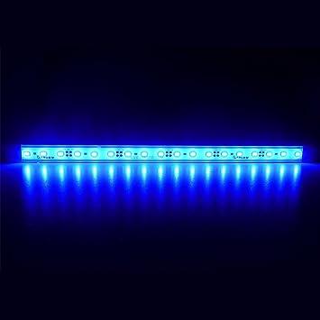 LTRGBW 5730 SMD 12V DC 18LEDs 7.2W super brillante luz azul acuario LED Franja de luz de inundación impermeable de aluminio de la barra de iluminación LED ...
