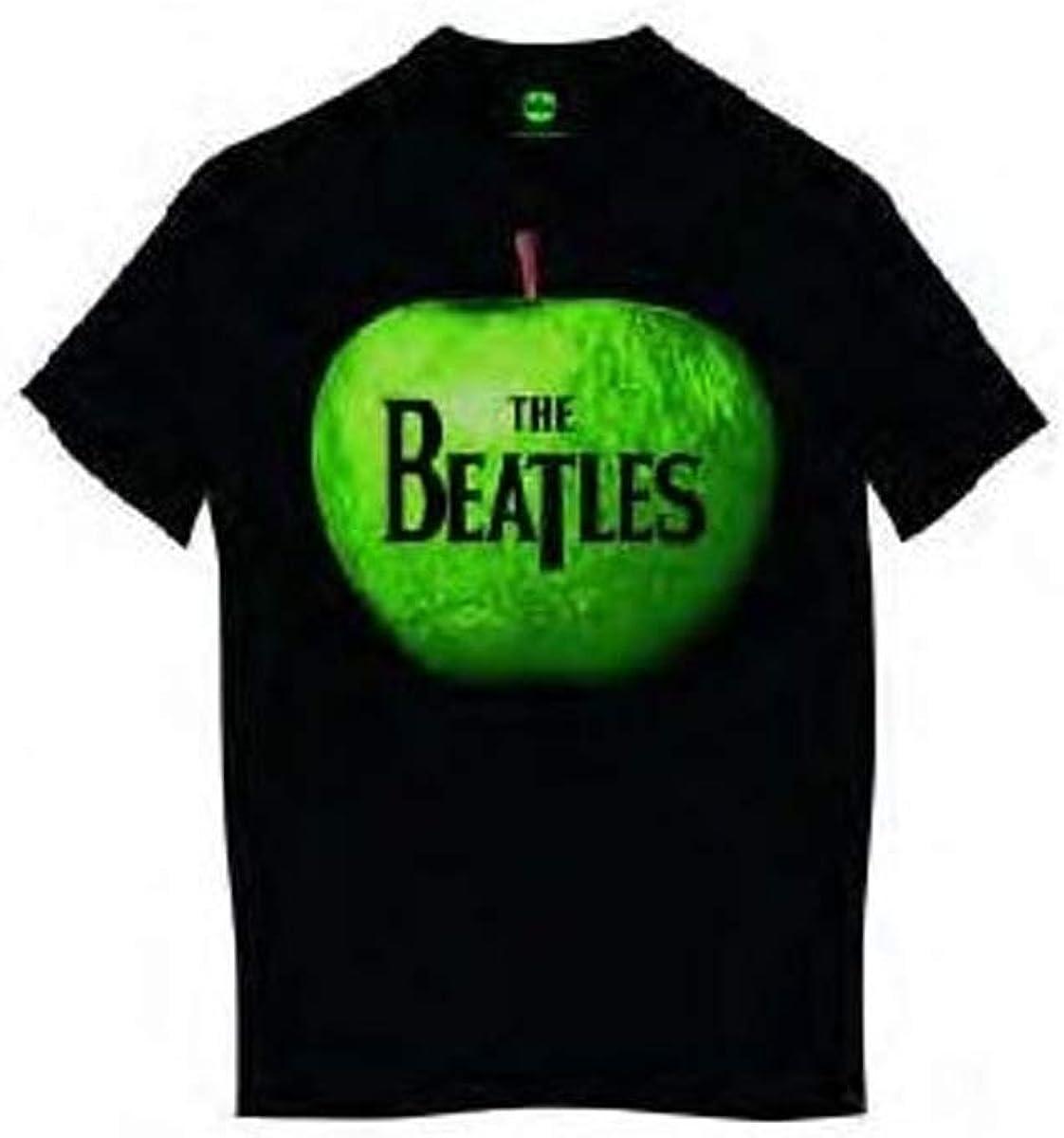 Beatles Men's Apple Vintage T-Shirt Black