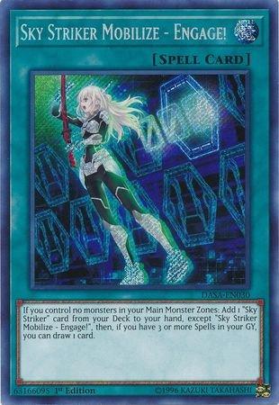 (Sky Striker Mobilize - Engage! - DASA-EN030 - Secret Rare - 1st Edition)