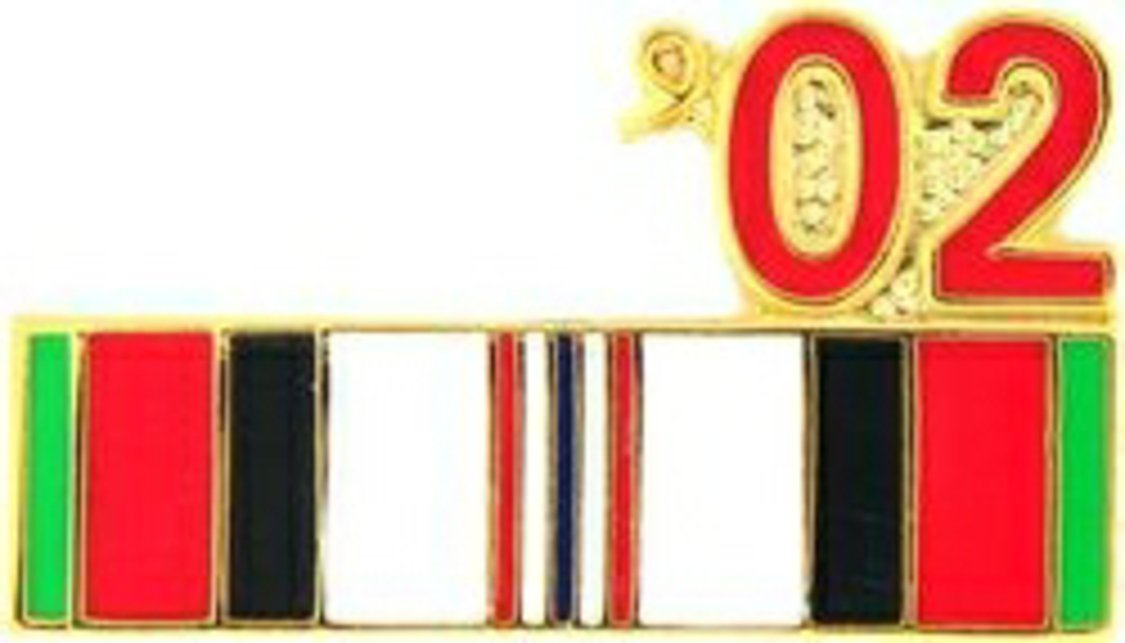 '02 Afghanistan Year Lapel Pin or Hat Pin