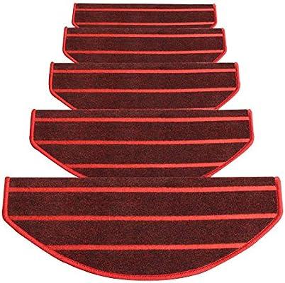LIXIONG Alfombra De Escalera Casa Antideslizante Escalera Alfombra De Paso Fácil De Limpiar Ángulo Recto Plegable La Hebilla Mágica Es Fija, 3 Estilos 4 Tallas (Color : C-1pc, Tamaño : 80x(24+3) cm):