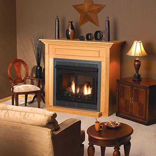 Empire EMBC3SO Standard Corner Cabinet Mantel with Base - Oak
