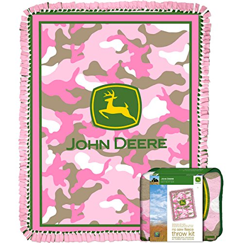 John Deere Throw Kit-Pink Camo