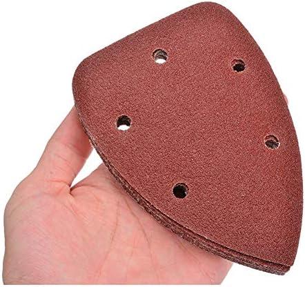 Sanding Sheets for Multi Sander 40Pcs 60/80/120/240 Grit Triangle Sanding Sheets Pads Sandpaper with 5 Holes Abrasive Tools Sander Paper for Grinding Accessory