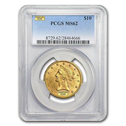 1850 – 1907 $10 Liberty Gold Eagle MS-62 PCGS G$10 MS-62 PCGS