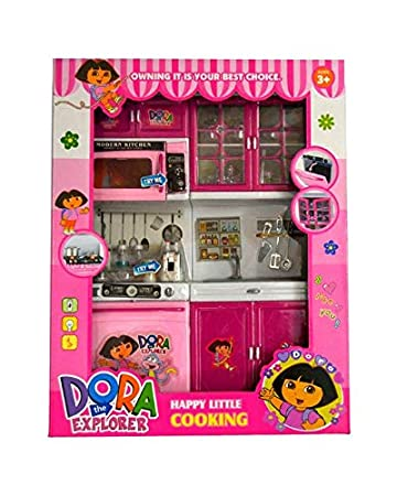 Buy Fun Toys Dora Kitchen Set Pink Small Online At Low Prices In India Amazon In