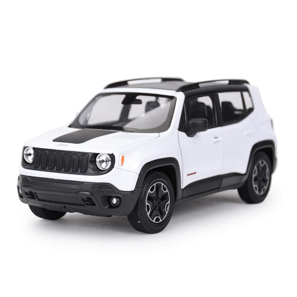 Auto Modello Modello Auto Jeep Modello Freeman Modello in Scala 1 24 Modello di pressofusione Modello in Lega Modello statico Ornamenti Decorazione Regalo ( Colore   Bianca )