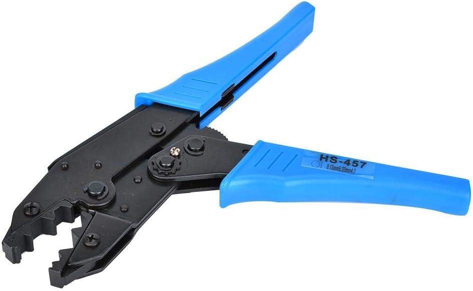 HS-457 Pince /à sertir /à cliquet BNC//TNC Outil de sertissage de c/âble coaxial 11,8.2,5.4mm/² RG6 RG58 Bornes Pince /à sertir Outil de mat/ériel manuel