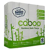 Caboo Tree-Free Bamboo Toilet Paper, Bulk 32 Double Rolls, Septic Safe Biodegradable Bath Tissue with Eco Friendly Soft 2 Ply Sheets