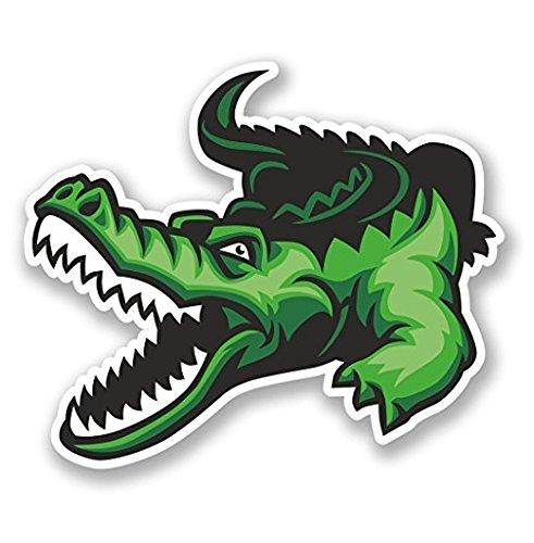 3 Pack - Crocodile Alligator Vinyl SELF ADHESIVE STICKER Decal - Sticker Graphic - Construction Toolbox, Hardhat, Lunchbox, Helmet, Mechanic, Luggage