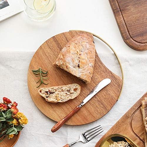 XXDTG Kreative Ganzes Holz Küche Schneidebrett Aus Massivem Holz Obst Schneidebrett Brot Steak Schneidet Fach Unpainted