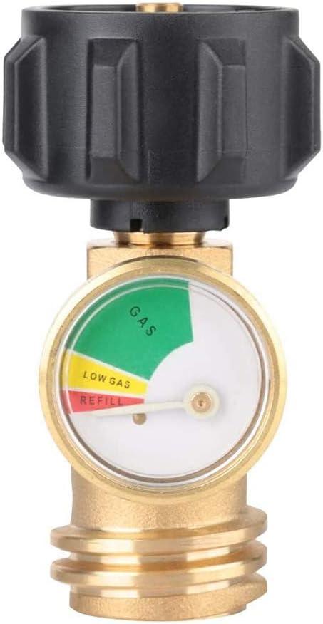 Zidao 250 PSI latón Indicador de presión Adaptador Universal para Barbacoa de Gas Parrilla de Gas del Calentador y Otros Dispositivos