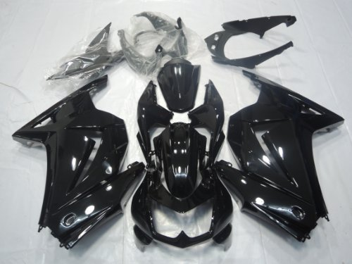 ZXMOTO K0208BLK ABS Motorcycle Bodywork Fairing Kit for Kawasaki Ninja 250 EX 250R ZX250 2008 2009 2010 2011 2012 Gloss Black - (Pieces/kit: -