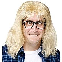 Fun World Mens SNL Garth Alpar Halloween Party Costume Wig Yellow O/S