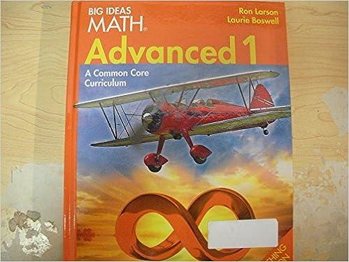Kostenloser Download ebook pdf-Suche BIG IDEAS MATH: Teacher Edition Advanced 1 2014 PDF CHM