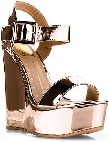 22b0e1bc8a90 Shopping Gold - Under  25 - Platforms   Wedges - Sandals - Shoes ...