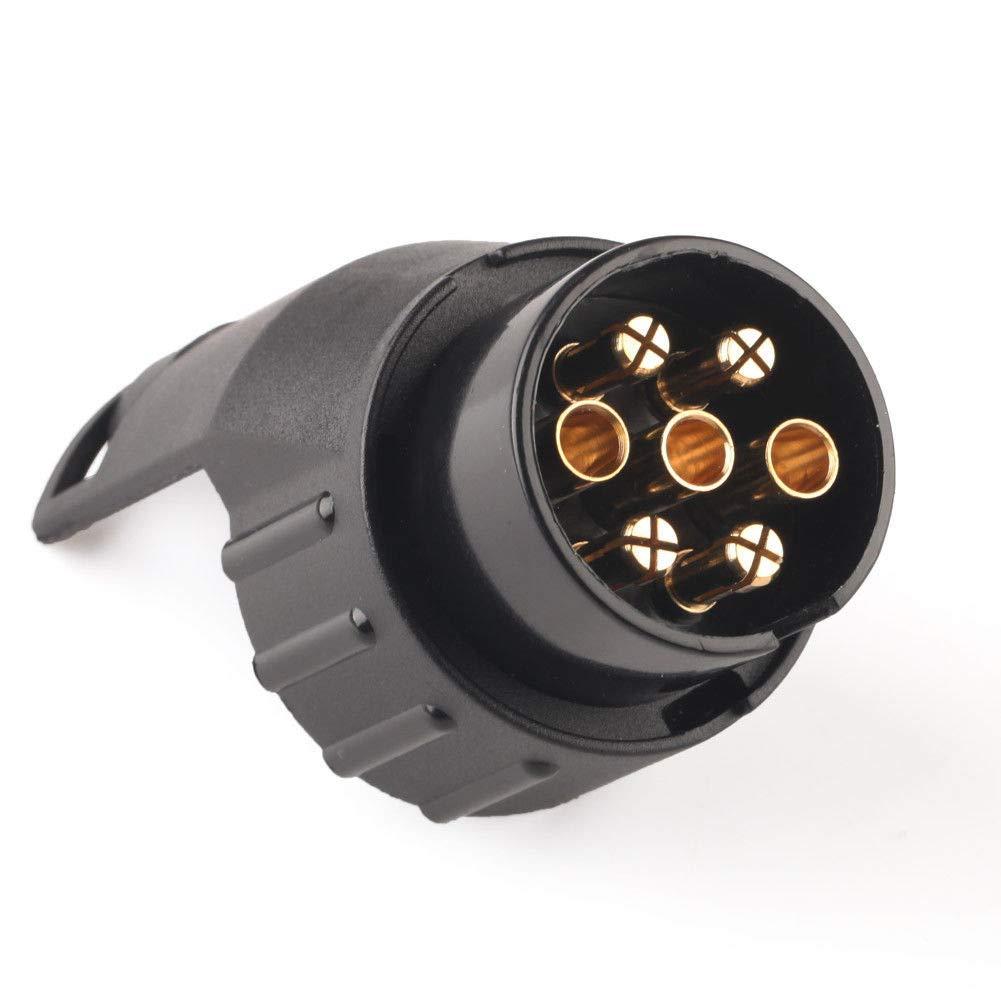 Ainstsk Rimorchio rimorchio, adattatore elettrico da 7 a 13 pin convertitore Plug caravan convertitore gancio di traino presa impermeabile
