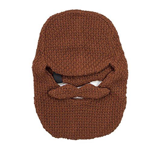 Beard Head - The Original Balaclava Knit Beard Hat (Brown)