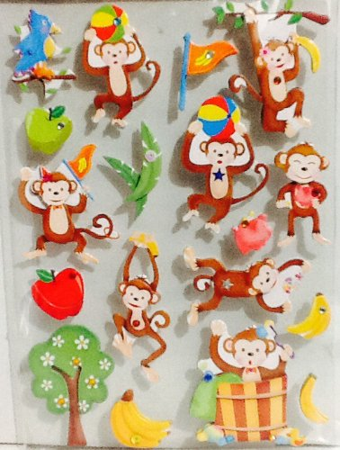 It's a Circus Out There ~ It's a Jungle! Animal Party Goods ~ Birthday Gift Bags ~ Baby Shower Giant Sack ~ Snack Containers, Hand Puppet, & Stickers (18 Dimensional ()