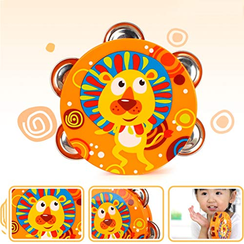 LIPENG-TOY Children's Educational Tambourine Infant Hand Drums Percussion Instrument 3-6-12 Months Set (Color : Multi-Colored) by LIPENG-TOY (Image #6)