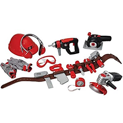 CP Toys Pretend Play Tools of the Trade with Tool Belt and Accessories: Toys & Games