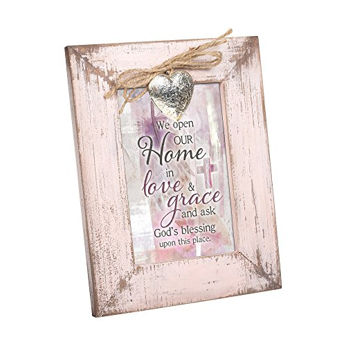 Cottage Garden Open Home Love and Grace Blush Pink Distressed Locket Easel Back Picture Frame from Cottage Garden