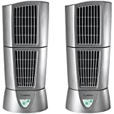 Lasko Platinum Slim Compact 6 x 14 Office Desk Desktop Wind Tower Fan (2 Pack)