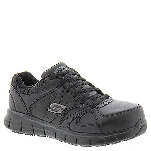 Steel Work Skechers 76553 Work Sandlot for Women's Up Black Lace Toe Synergy Shoe 6wUYx