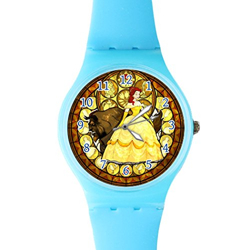 g-store-beauty-and-the-beast-large-screen-casual-watch-blue-resin-sport-watch