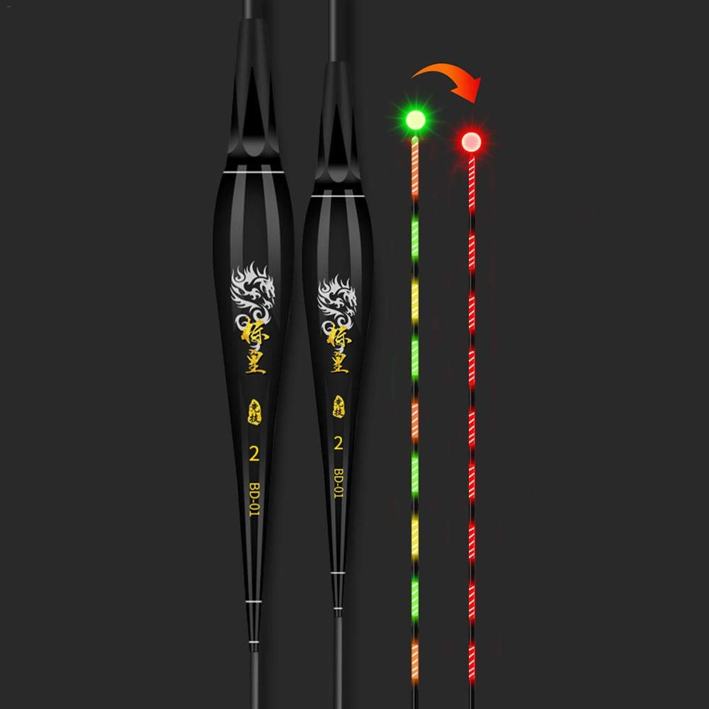 juman634 Smart Fishing Float LED-Licht automatisch erinnern f/ür Nachtangeln Farbwechsel leuchtende Fischen schwimmt