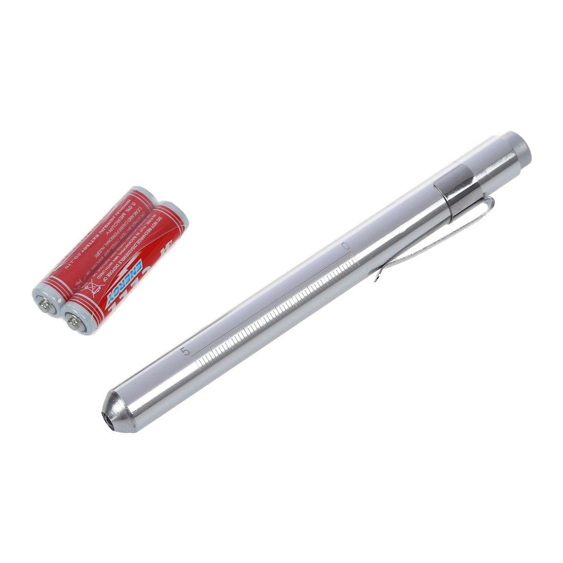Linterna Medico Antorcha Color Plata Lampara 1 LED Luz blanco Aluminio