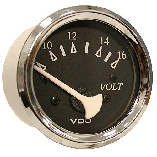 VDO Allentare Black Voltmeter - 8-16V - Chrome (Chrome Voltmeter)