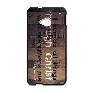 Canting_Good Bible verse I can do all things Custom Case Shell Skin for HTC One M7(Laser Technology)
