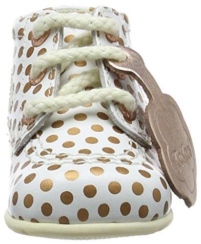 Kickers Unisex Baby Hi B Stiefel Weiß (White/rosegold)