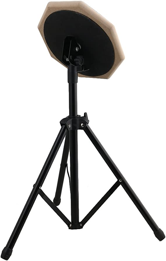 BQLZR Grey 8inch Practice Training Drum Pads Set di supporti regolabili per batteristi
