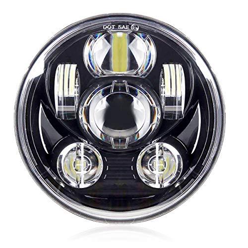 Vouke 5-3/4 5.75 LED Headlight for Harley Davidson Nightster Motorcycle Sportster 883 Iron Dyna Street Bob Nightster Night Rod Headlamp Projector Driving Light - Custom Headlamps