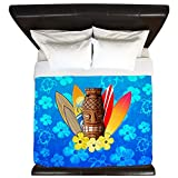 CafePress - Tiki And Surfboards - King Duvet Cover, Printed Comforter Cover, Unique Bedding, Microfiber