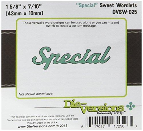 Die-Versions Sweet Wordlets Die Cuts, 1.625 by 0.4375-Inch, Special